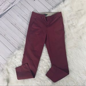 Vince Straight Leg Red Pants